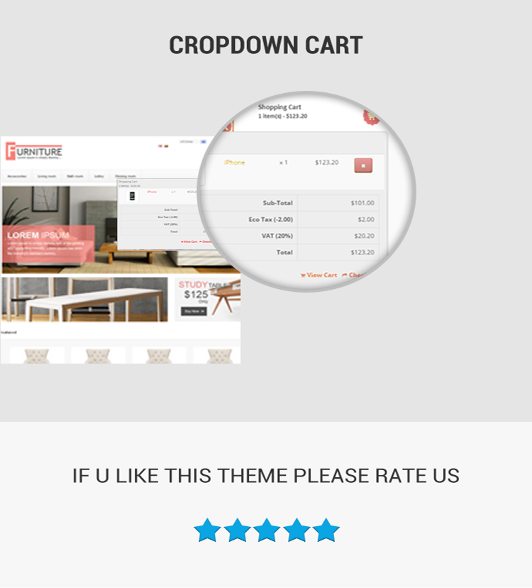 opencart furniture theme crose updated hover cart view
