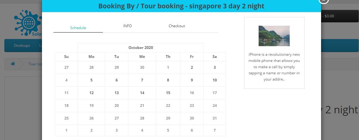 OpenCart Booking and Reservation Module