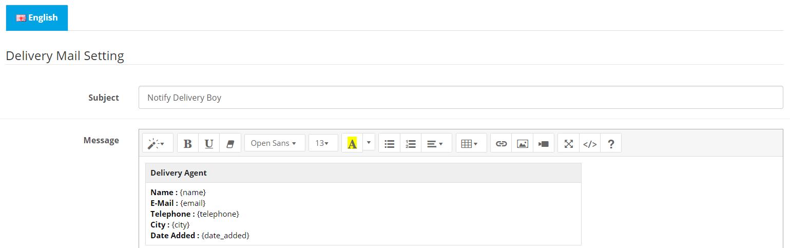 Admin write multi-language email template