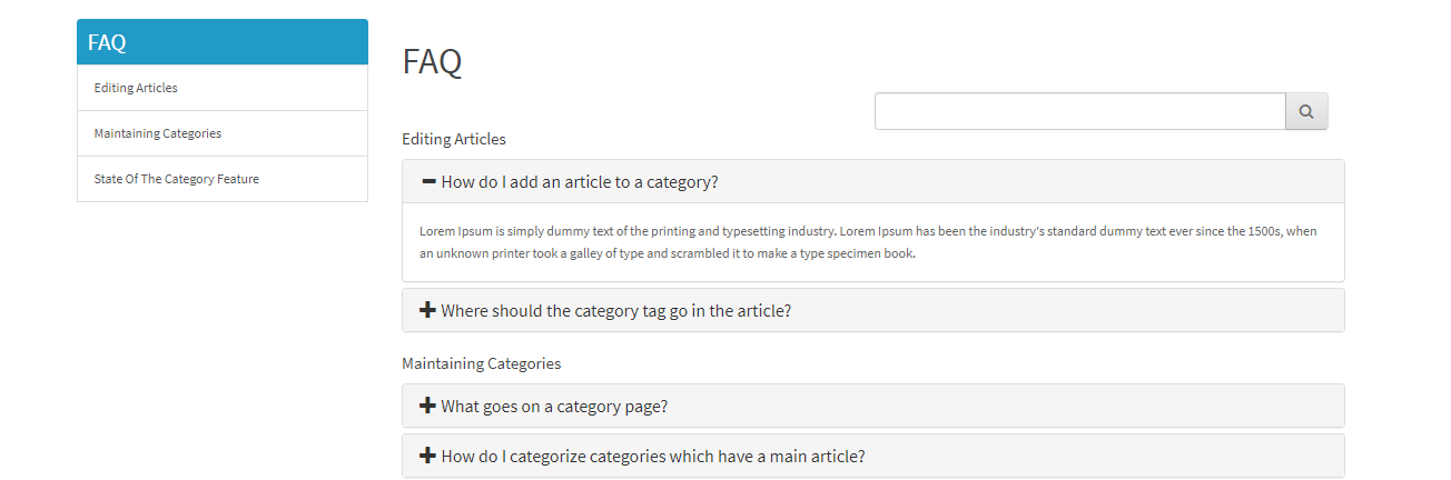 opencart FAQ module display faq page