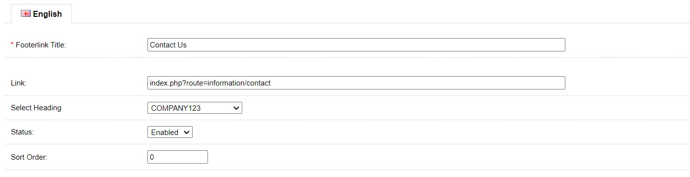 admin editing menus that display on footer in OpenCart 1.5x version