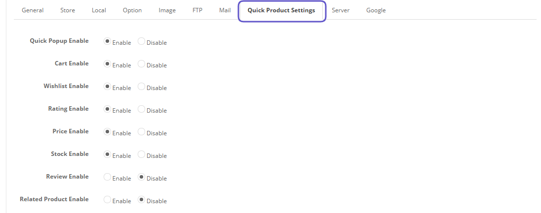 opencart product quick view show on feature product list on home page