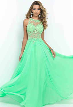 green color dress